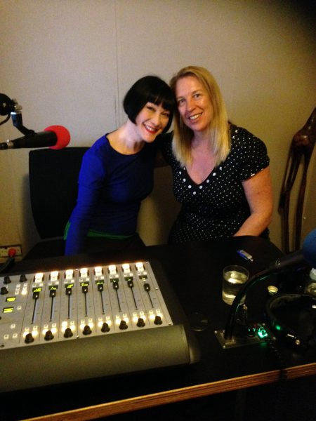 two women in studio
