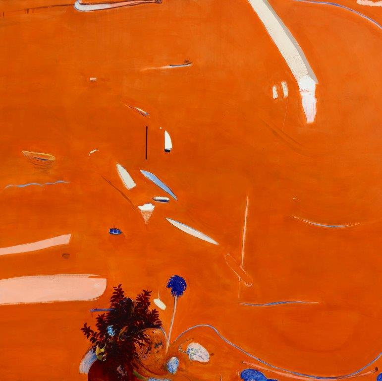 Brett Whiteley, Big Orange Sunset, 1974 (detail) AGNSW collection purchased 1975