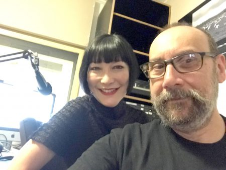 Artist Nick Stathopoulos with Claudia Chan Shaw