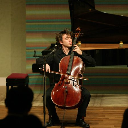 Clancy Newman performing live with cello