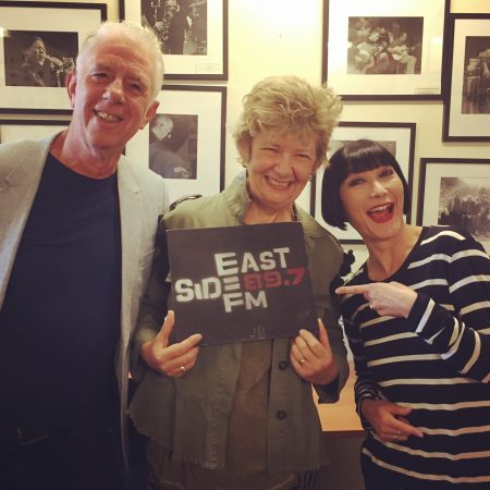 Claudia Chan Shaw with artists Mike Staniford and Debbie Mackinnon