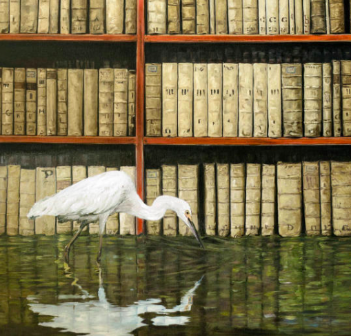 James McGrath: The Flooded Library - New paintings - Image