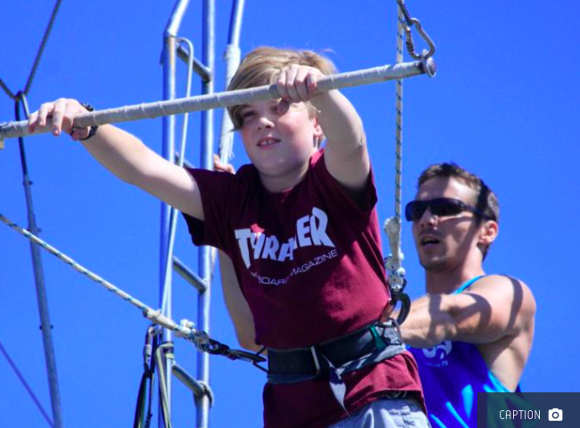 School holiday circus and flying trapeze - Image