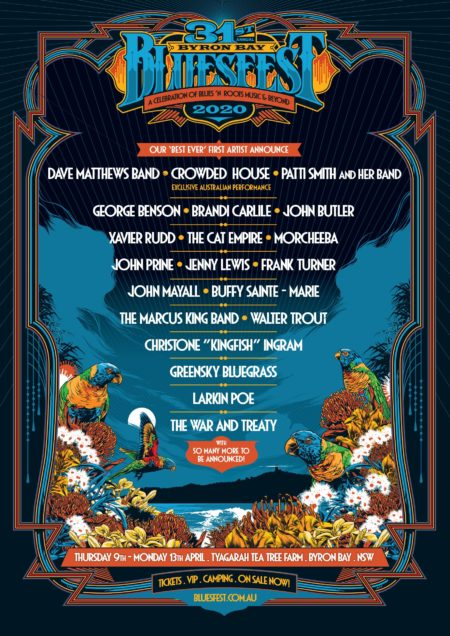 Top Grossing Artists 2020.Byron Bay Bluesfest S First Line Up Announcement For 2020