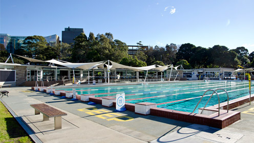 Swimming Pool lanes at Victoria Park